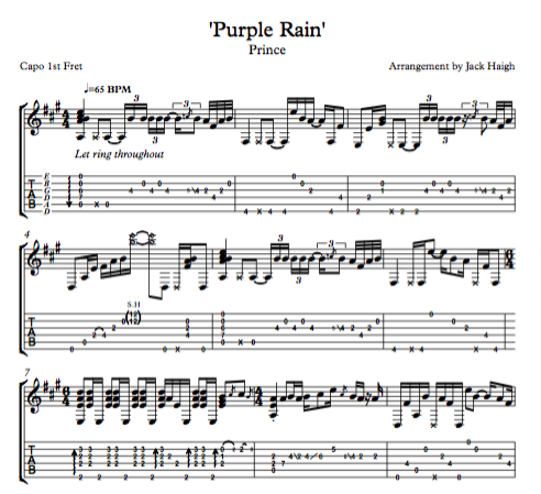 purple rain music sheet - Mersn.proforum.co